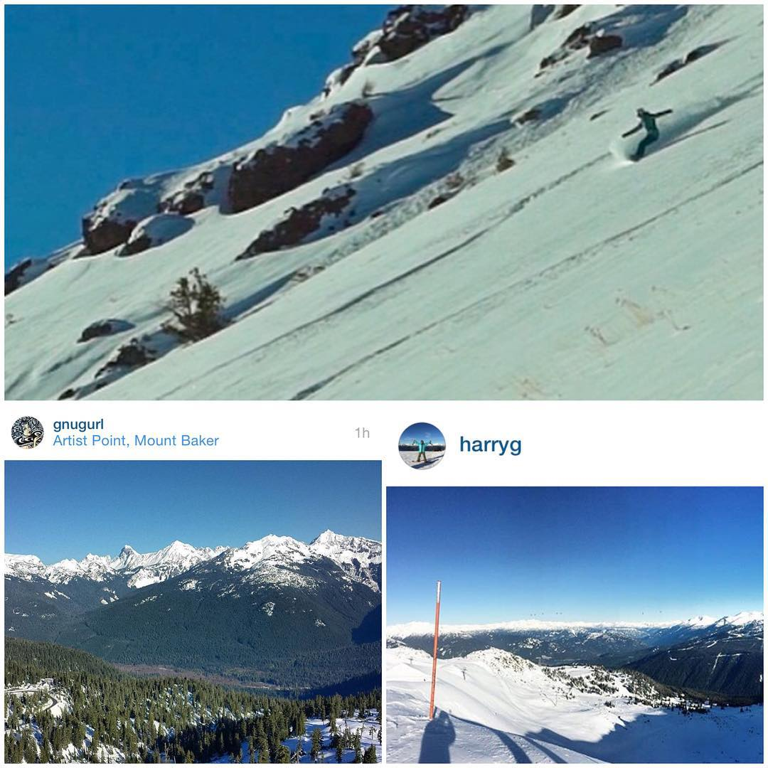 Kirkwood is open! Mt Baker is open! Whistler is open! Av7Adventurers @caseylucassnow @gnugurl and @harryg are getting after it! Game on! #avalon7 #liveactivated #snowboarding www.avalon7.co