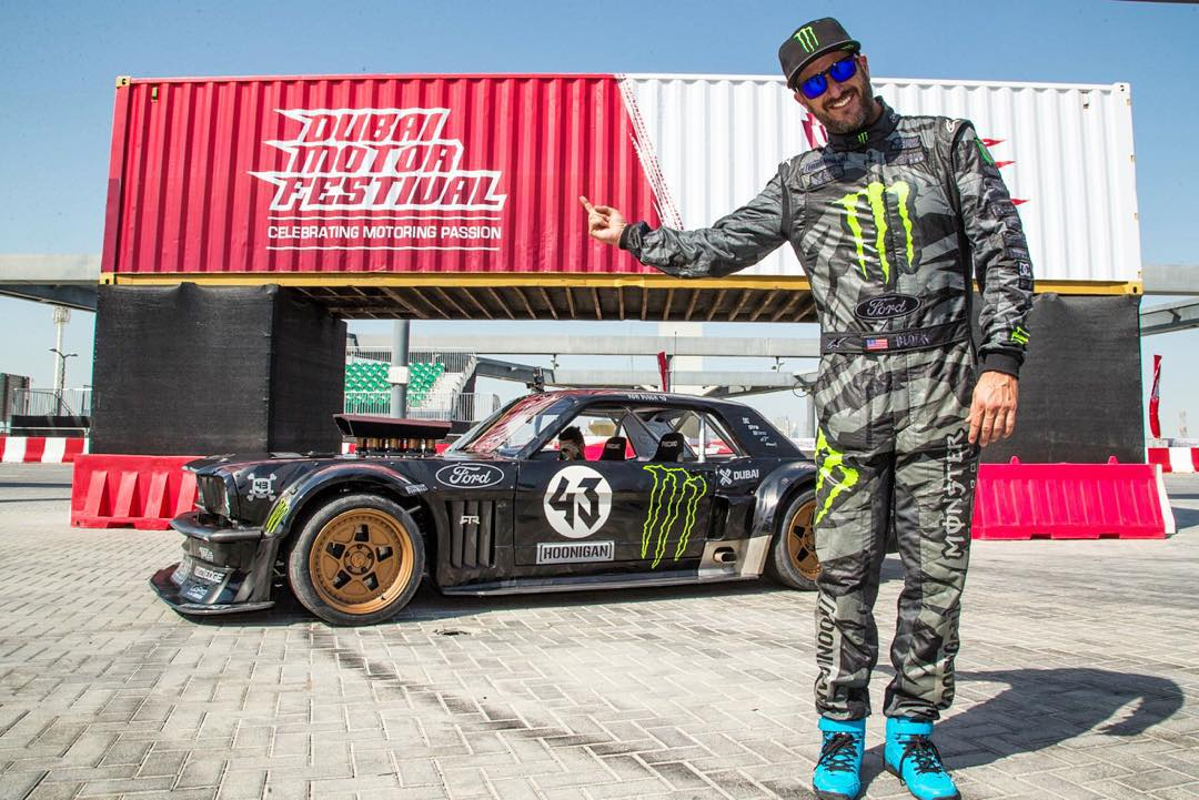 TOMORROW: I'm going to drive this beast at the @DubaiMotorfest, starting at 1pm local time. Come by to see and hear my Ford Mustang #Hoonicorn RTR do what it does best: obliterate tires on a Gymkhana course. #XDubai #MyDubai