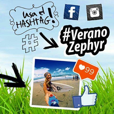 Concurso de fotos!! Subí una foto que represente el verano con el hashtag #VeranoZephyr! El 30/11 se van a subir las 10 mejores fotos a nuestro Facebook e Instagram, la foto que junta más likes se gana una #GoProHeroLCD, un #ZephyrPole y un pantalón de...