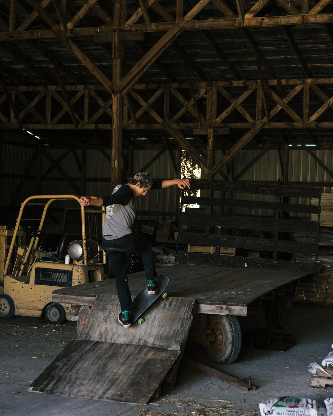 @damianschro using a Chipper on a pallet ramp in the middle of nowhere.