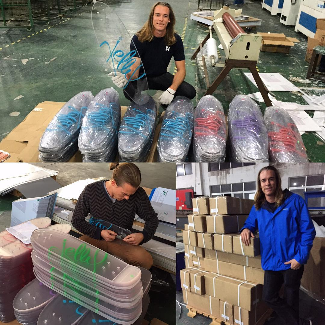 >>>>Update<<<< Hello backers!!! CEO and Co-Founder Sven just got back from a factory visit to inspect quality of the boards. We are excited to announce that the boards came out perfect!!! Woohooo! Scheduled delivery to our warehouse in San Diego,...
