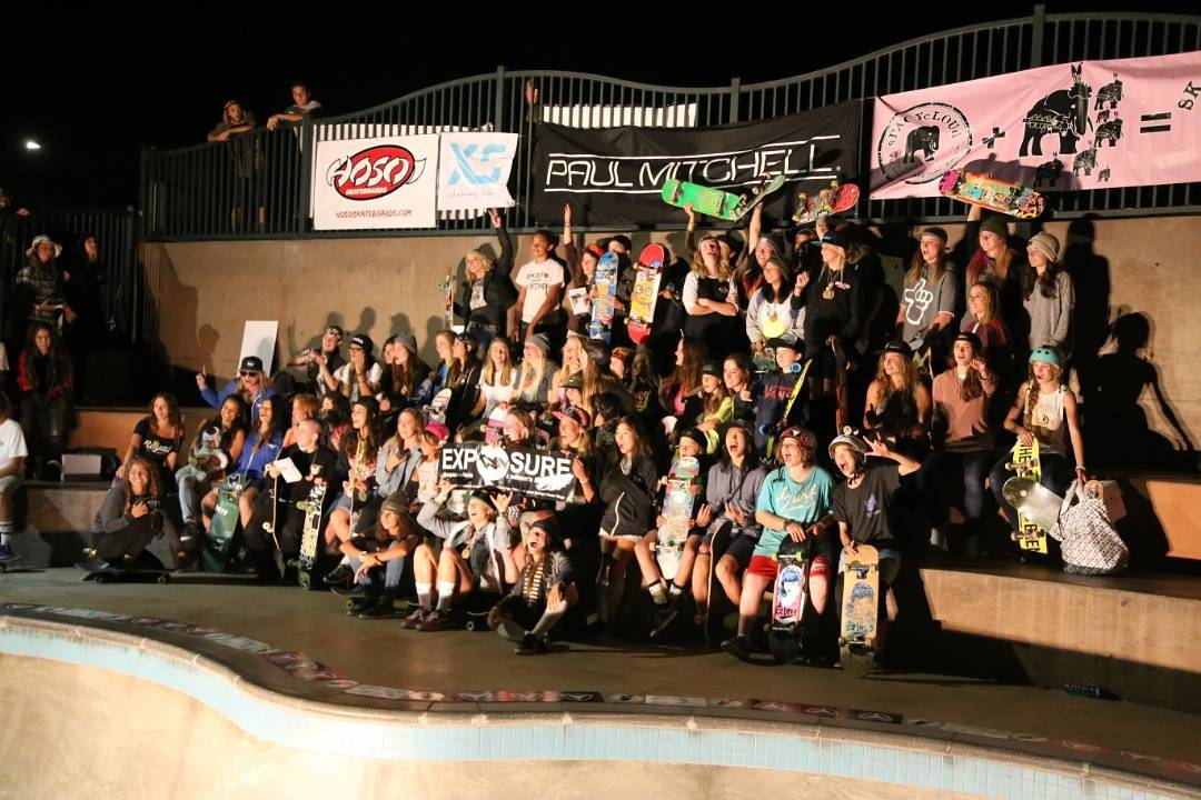 100 of the world's top female skaters came out to skate in #exposure2015. Tag yourself! Photo @concretedisciples