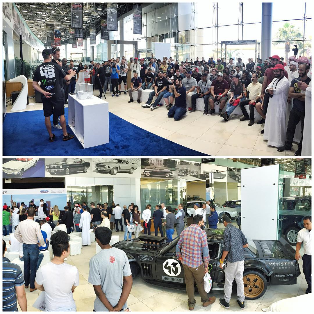 Kicking off my morning with a VIP Q+A and autograph signing session at the Al Tayer motors Ford Dealership here in Dubai, along with the #Hoonicorn. Great turnout! Also, this may be the wildest Ford Dealership I've ever seen. It's massive. Cool to see...