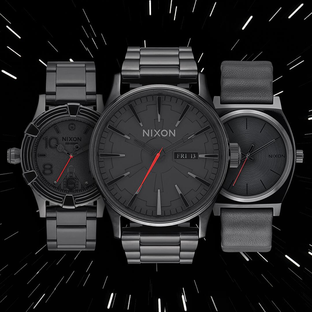 Most Impressive. The complete #DarthVader Collection. Available Now. @StarWars | #Nixon Dark Side Collection: Part 2 #TheForceAwakens #StarWars
