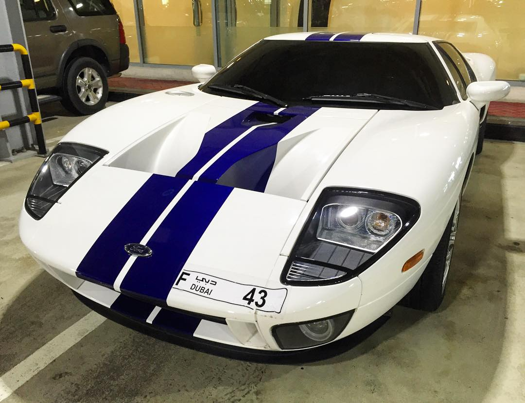 Spotted this in the parking garage here at Al Tayer motors in Dubai: a Ford GT with a coincidentally proper license plate number. Ha. Does that mean I get to drive it?? #FordGT #yesplz #carspotting