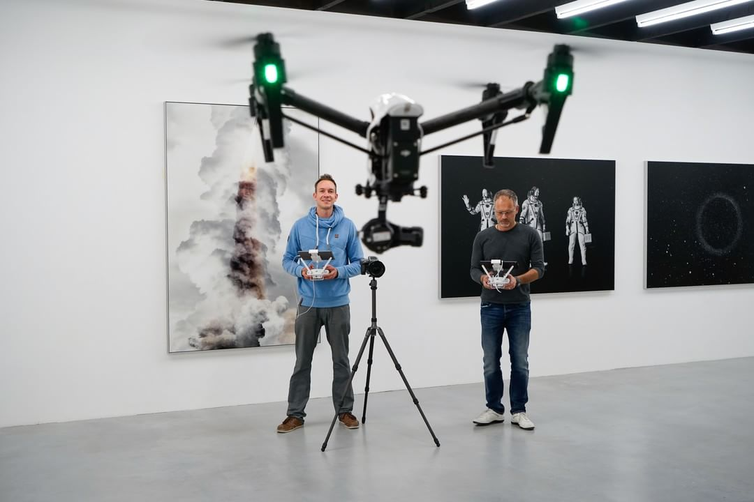 Together, we create a powerful story.  Hasselblad's (@Hasselblad_Official) Michael Najjar with #DJI Ferdinand Wolf and the #inspire1 as part of the Synergy series.  #IamDJI #hasselblad #createtoinspire #mediumformat