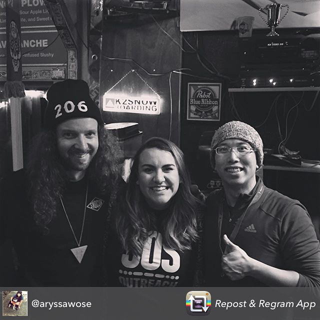 Regram from @aryssawose • Biggest thanks to the best bar in #seattle for throwing an awesome event and raising over $1k for @sosoutreach PNW! Love you @woodskys! #prayforsnow #spreadthelove  #pnwfamily