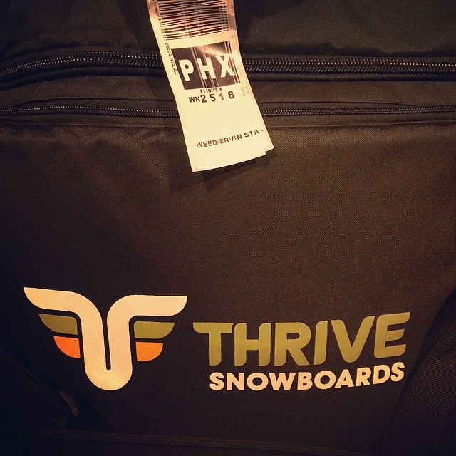 Snowboard bags in Phoenix. Anyone think we will look a little out of place?