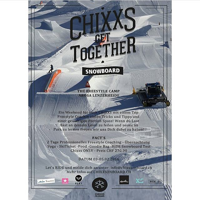 We are proud to be the official helmet sponsor for the upcoming season of the @chixxsonboard Snowboarding Freestyle camps! The first camp is at the Snowpark Arosa Lenzerheide in February. Details at chixxonboard.ch #freestyle #snowboard #girlsonly