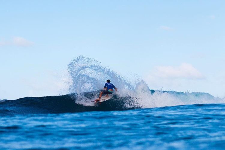 Bajan @danemackie backside whipping his way to double finals at the 2015 @wsl Pro Jr & Men's Soup Bowl Pro.