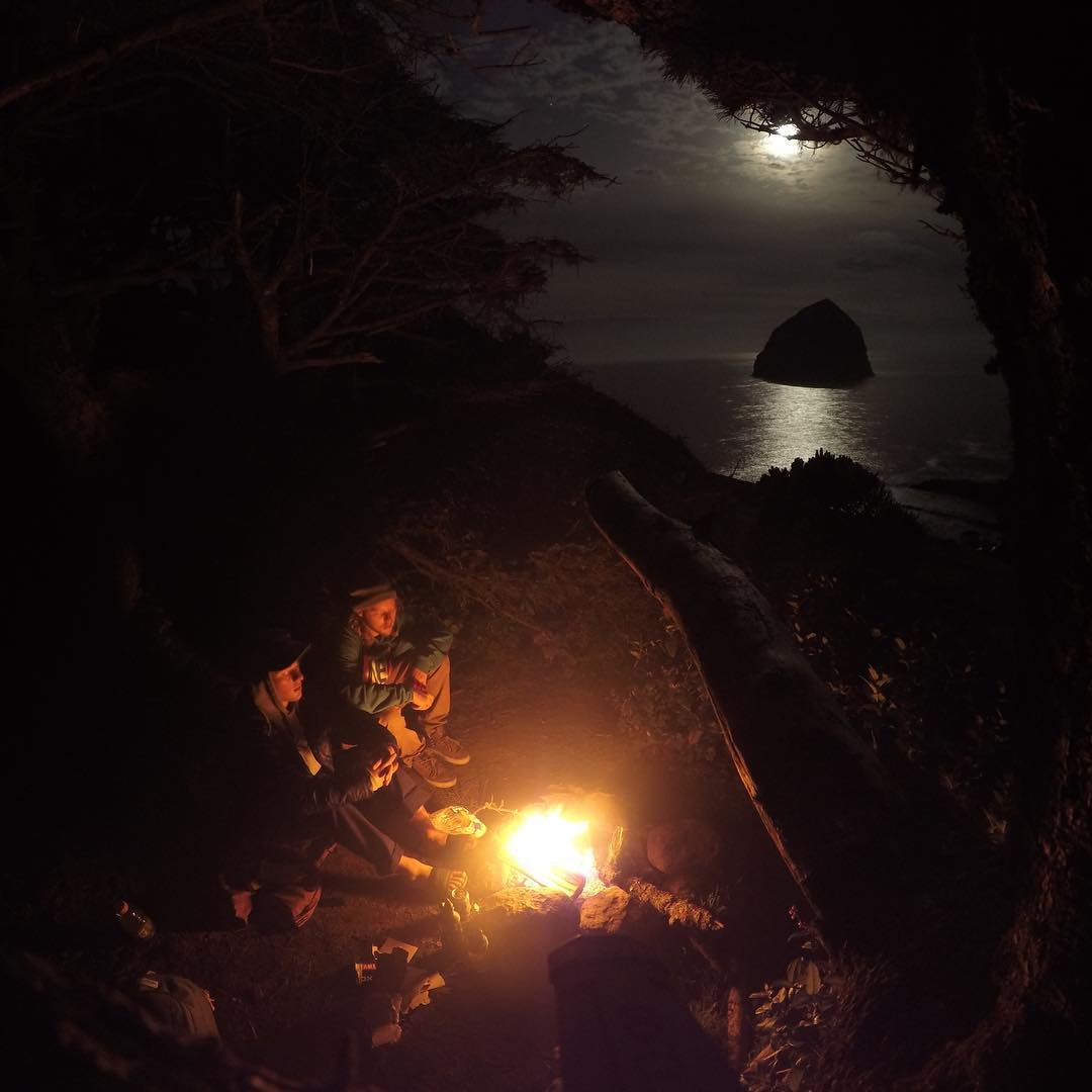 GoPro Featured Photographer and Athlete - @timhumphreys  About the Shot - #Camping out on the #Oregon Coast: Long #exposure at night combined with a window view of a haystack rock out in the ocean made this a memorable photo from this camping spot. I...
