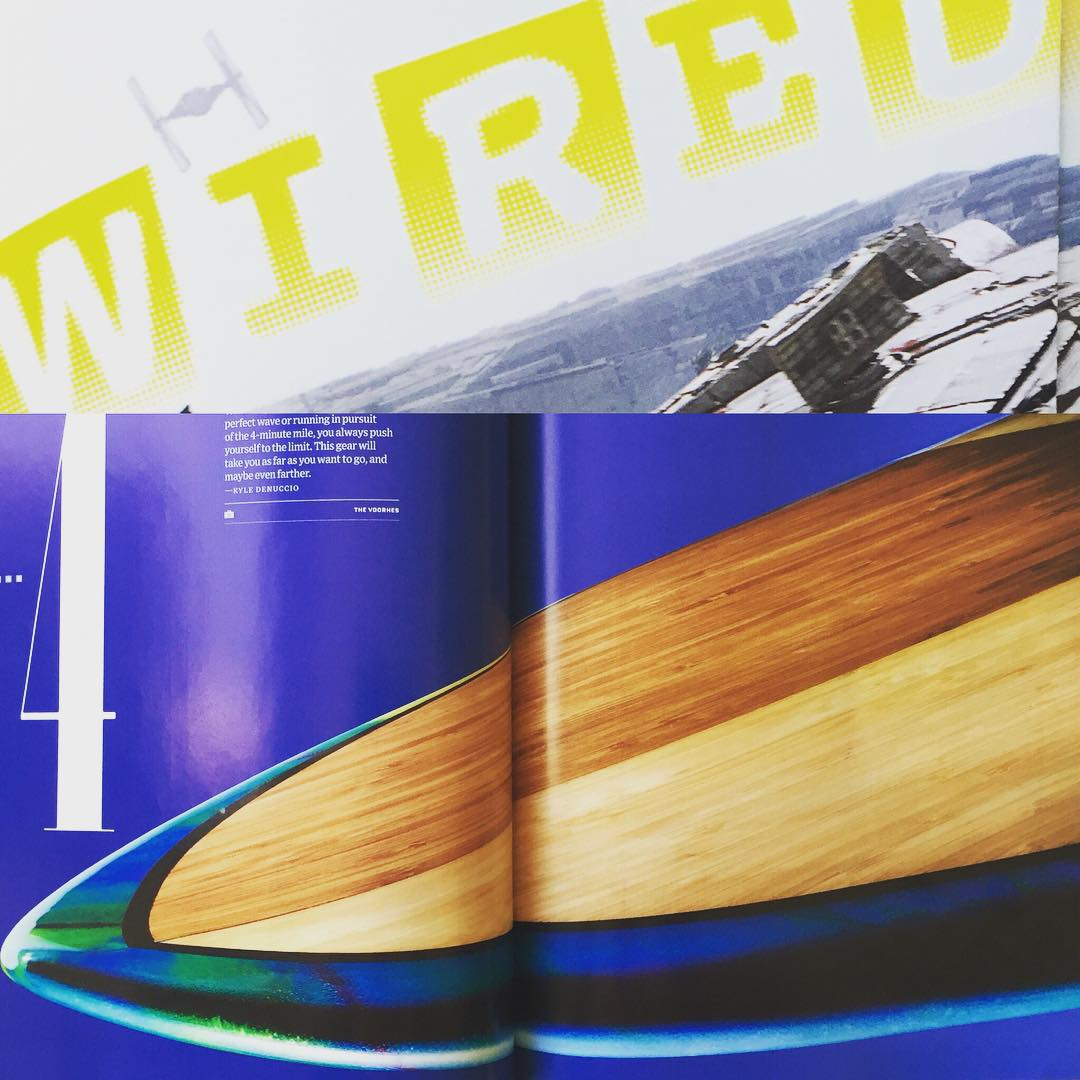We got the latest in clean-tech surfboards pretty much #WIRED this month, with a double-page spread in the new @wired  DesignLife mag (and in the usual Dec issue of WIRED mag too) featuring a custom @lostsurfboards #ECOBOARD shaped by...