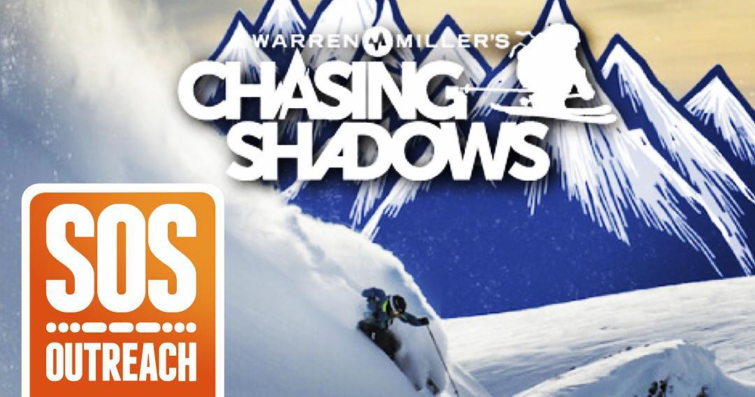 Come check out Warren Miller's new film, Chasing Shadows! Showings to benefit SOS are tonight in Seattle @mccawhall at 7:30 PM and tomorrow night at Paramount Theatre at 6 & 9 PM