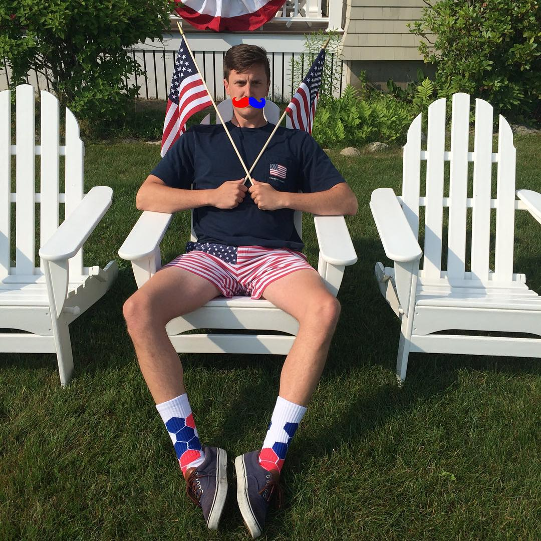 Show off your true #colors this weekend and #grabapair to #saveapair #thesecolorsdontrun #america #mustache #movember #unclesam #wecallthataneonmustache @daddy_draper