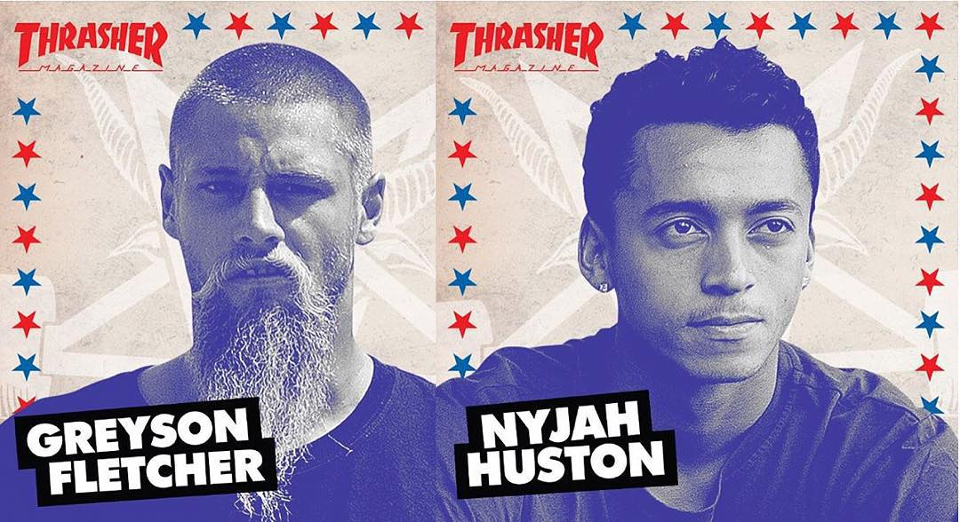 our dudes @greyson_fletcher and @nyjah are both contenders for #ThrasherSOTY2015 >>> both dropped heavy video parts this past month and are on