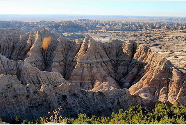 B A D L A N D S  N A T I O N A L  P A R K Did you know the striking landforms of @badlandsnps contain some of the most abundant fossil beds in the world? We sure didn't.  #radparks repost from @rangerkristine - thanks for all that you do!