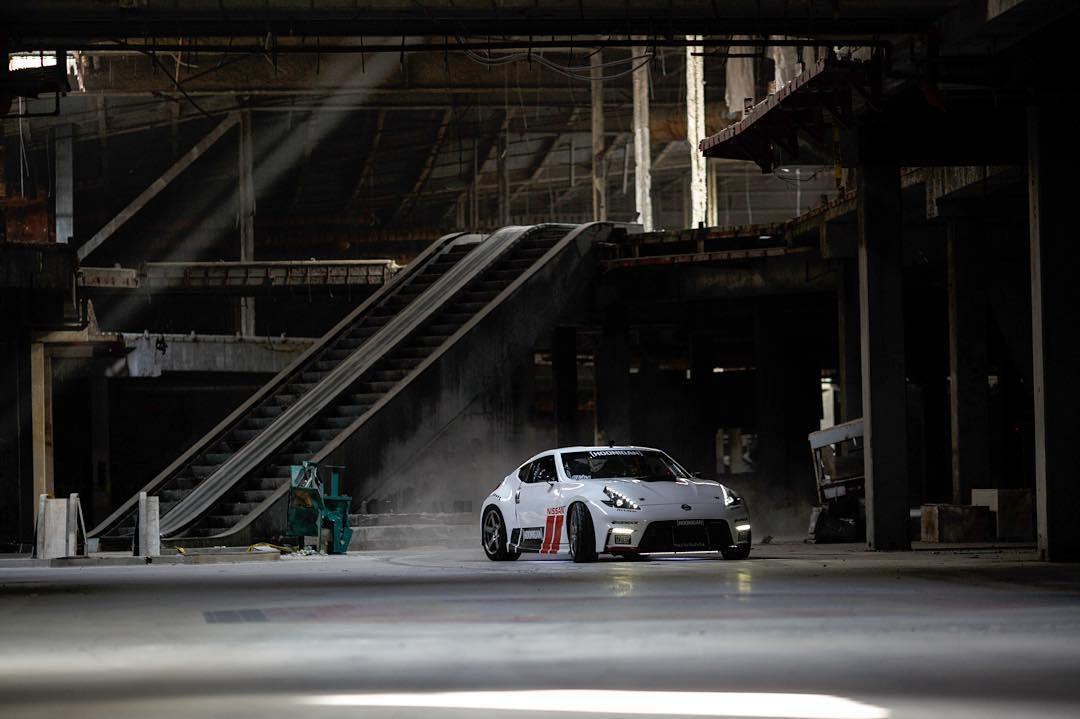 Watch @chrisforsberg64 shred his 1000hp 370z through some abandoned mall for the sake of #hooniganblackfriday on Tuesday.