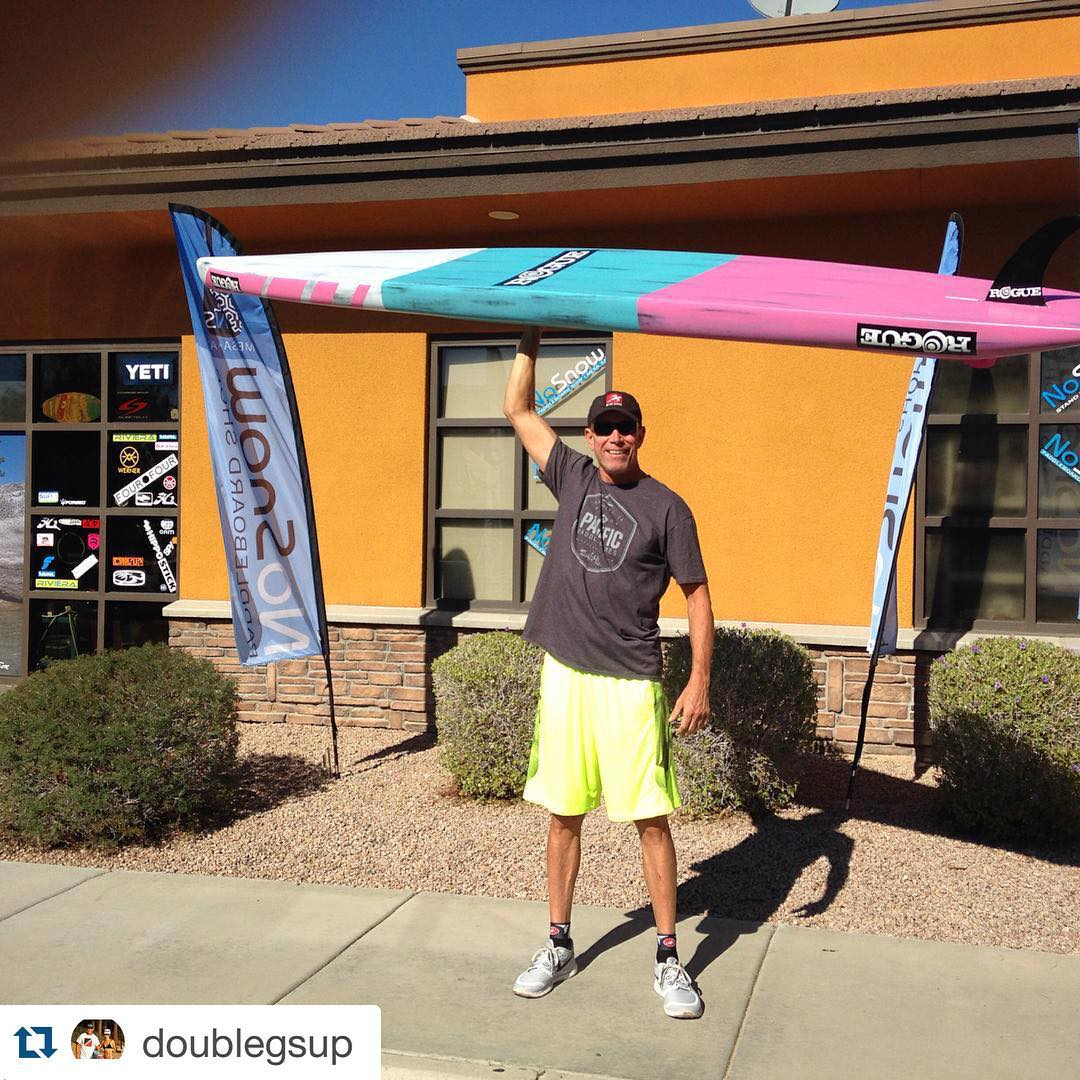 "Happy Sunday! ""NOSNOW sup ..delivered  the 16 pound !beauty  today ""weight matters most""..! @roguesup @nosnowsup #roguesup. Repost @doublegsup"