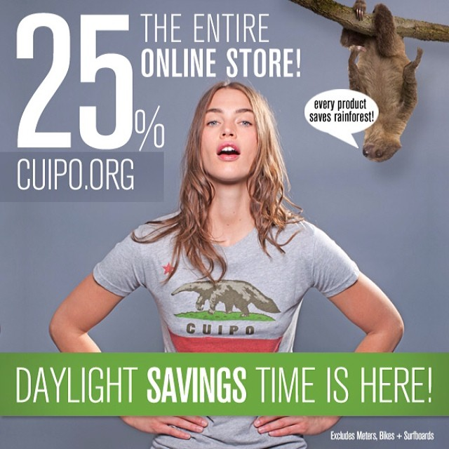 Make up that hour with some Cuipo savings!!! 25% off cuipo.org lets save some rainforest. 97% of scientists say if you don't breathe you will die. You cannot breathe without trees!!!! #cuipo #saverainforest #kindafunny #savings