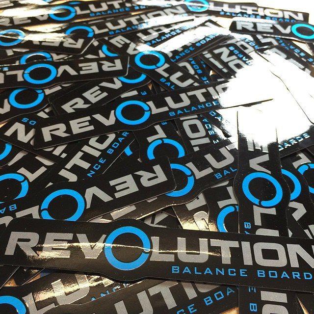 Stickers! #revbalance #findyourbalance #balanceboards #madeinusa