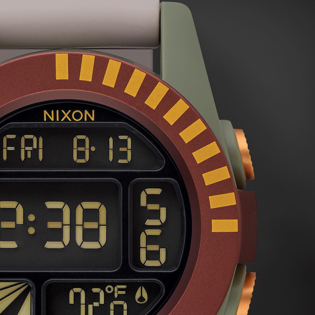 Welcome the #BobaFett collection. Featuring the #Unit. Created for those who know. #Nixon #StarWars #TheForceAwakens