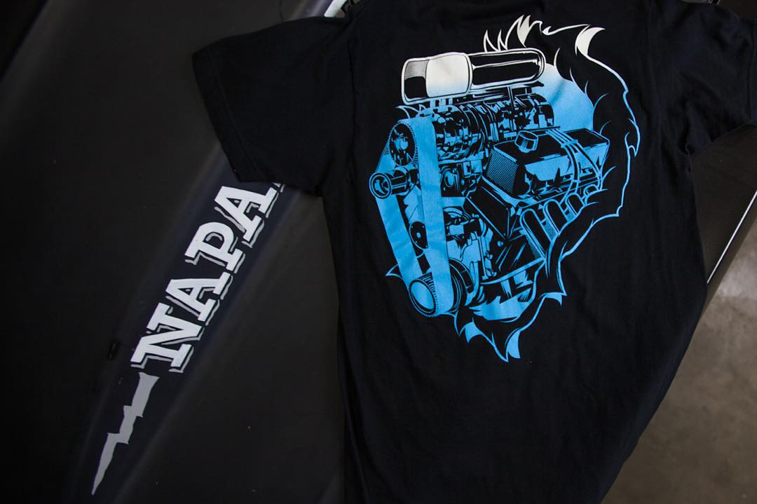 Name that motor and blower on the Running On All Cylinders tee. Get yours on #hooniganDOTcom