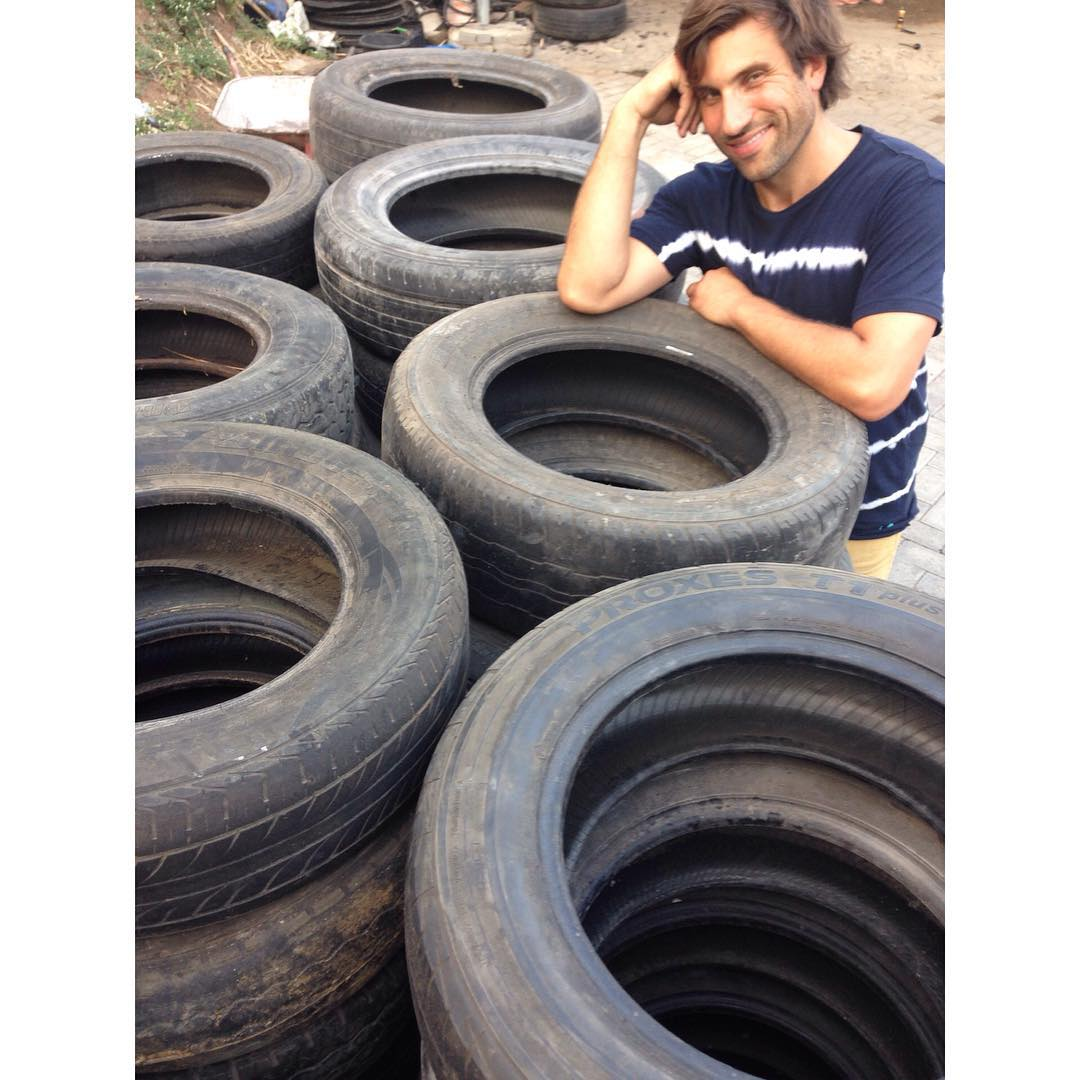 Kyle Parsons is his name... Repurposing tires is his game.