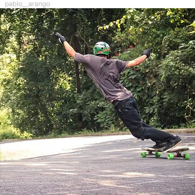 """Greetings from Costa Rica."" We love it when our supporters send us photos from around the World! Thanks for the love @pablo__arango !!! Keep rolling. #skateriviera  #rivieraworldwide  #rivieraskateboards"