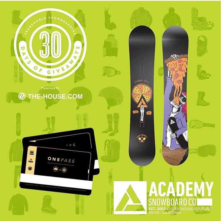 Today is the day!! Get over to @twsnow for your chance to win our Team series deck and a @borealmtn unlimited pass!! #30daysofgiveaways2015 presented by @thehouseboardshop