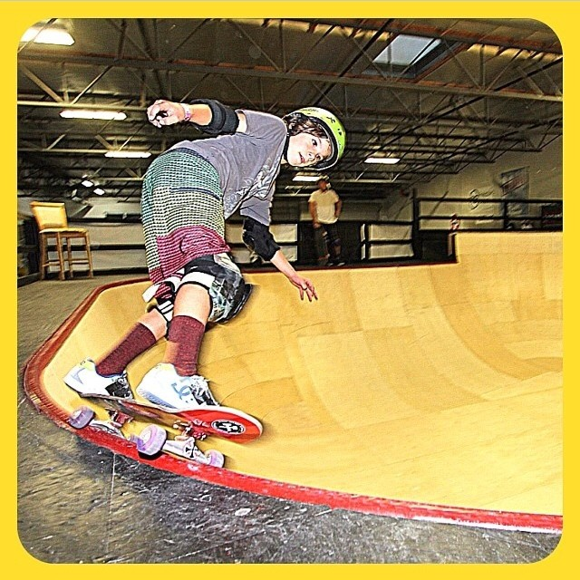 @rylanmancilla having fun in the new bowl at @auratrainingfacility . #skateboarding #groms #s1helmets. Rylan wears the #s1 #kid #helmet . Rylan just got 7th at the #vans #am #combi #contest on Saturday.