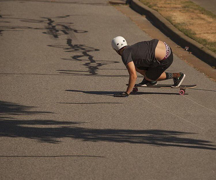 Regram from @raynelongboards - @mikefitter laying down some predrifts a little while back while wearing our new #SK8 helmet. #predatorhelmets #originalpredatordesign