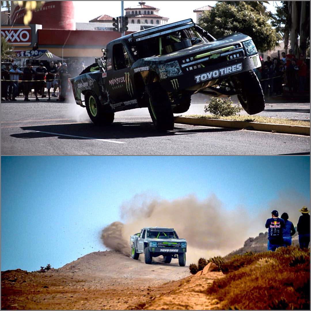 Tough break for our dude @bjbaldwin during the #baja1000. BJ unfortunately had a transmission failure early on in the race but still had time to flex a little bit. #partsbreakers