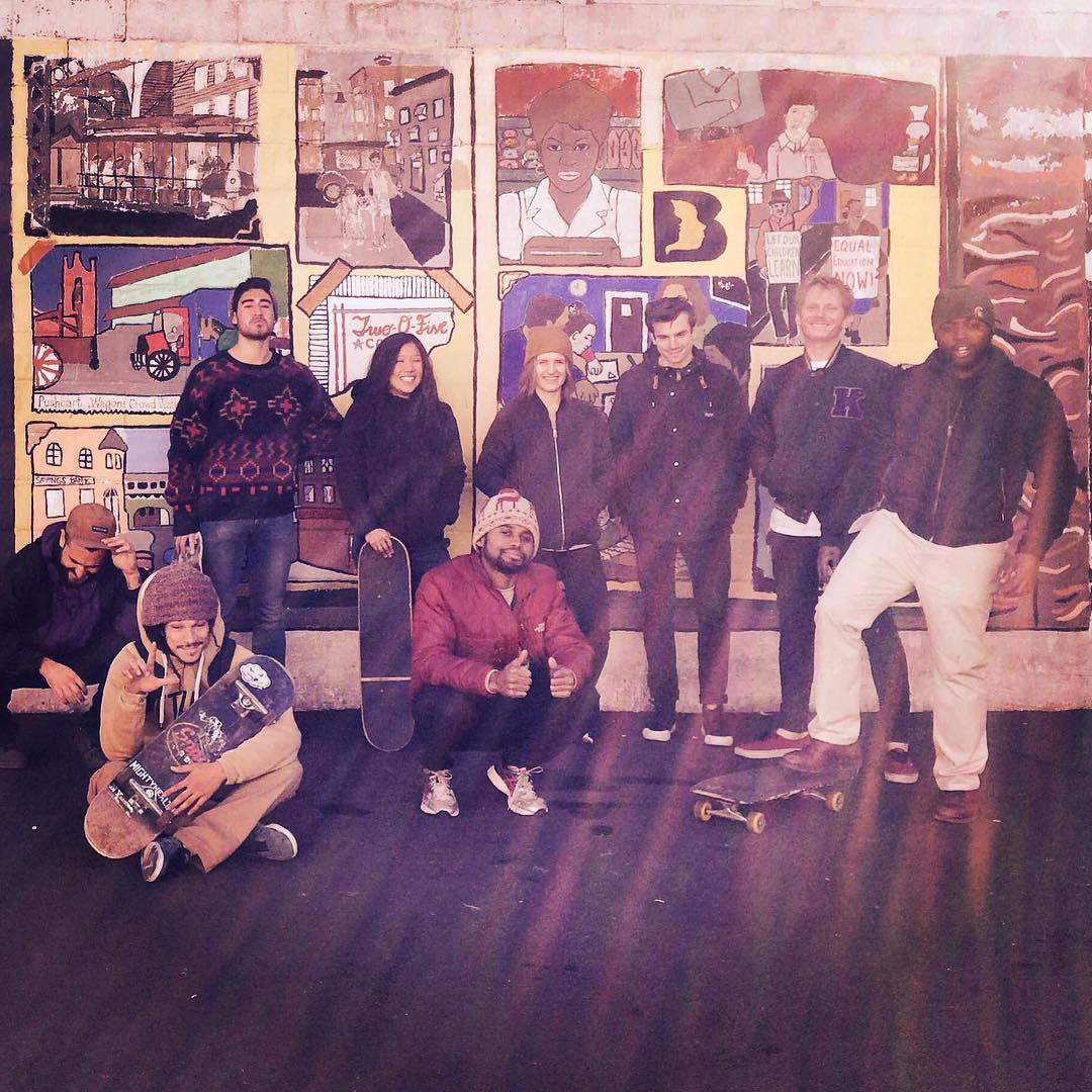 Huge thanks to our amazing coaches and volunteers who came out to finish repainting this mural and repairing a skate ramp for @stoked_nyc. You guys rock!