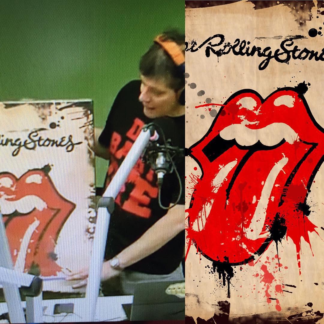 #art #diseño #rollingstones #musica #rock #music #Chilimango #talleresturk  Mario con unos de nuestros cuadros en 60x90...