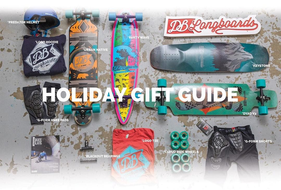 We got some deals yo! Free gifts with all orders over $100 and 10% Off All Orders Over $200 Until Nov. 30th!  Browse our Holiday Gift Guide by clicking the link in our bio!  #dblongboards #longboarding #skateverydamnday #skateeverything