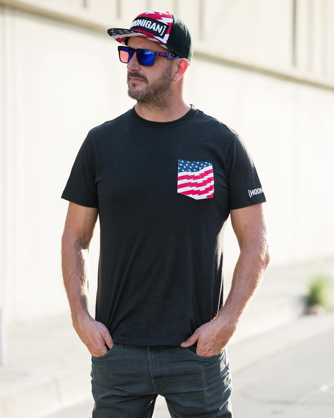 If you happen to get dragged out to a mall this week make sure to stop into @zumiez, they are stocked with that Stars and Stripes gear we're sold out of. HHIC @kblock43 in the Stars and Stripes pocket tee.