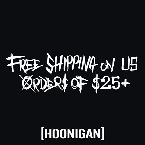 Now through cyber Monday free domestic shipping on all orders over $25 on #hooniganDOTcom. #toosoonjunior