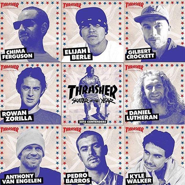También están @pedrobarrossk8 y @kwalks. 8 skaters del team @vansskate nominados para ser #ThrasherSOTY2015