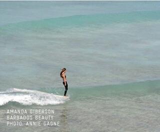#akelasurf Ambassador Amanda Giberson @_longboardlove photo Annie Gagne #ladyslider #barbados #surfswimwear #paradise
