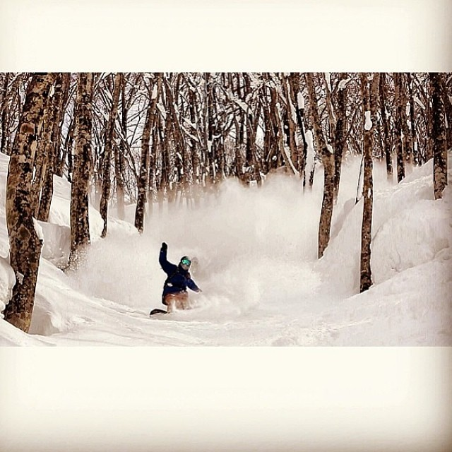 @erikleon_ rides the white wave in Japan! #thefluxlife Photo: @devocam