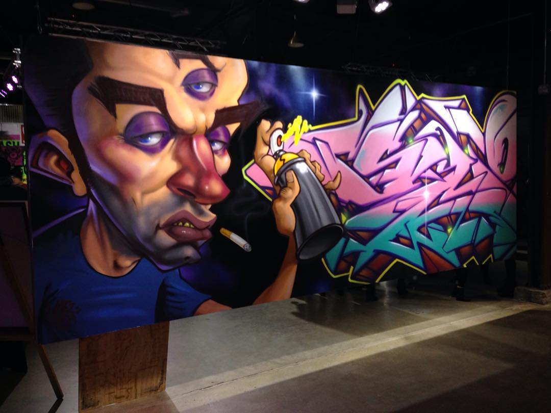 "@mezdata & @slokeone • • ""Hops for Hope"" @hopecampaign • • This past weekend during #eastaustinstudiotour • • #atx #austintx #texas #tx #art #mural #hopsforhope"