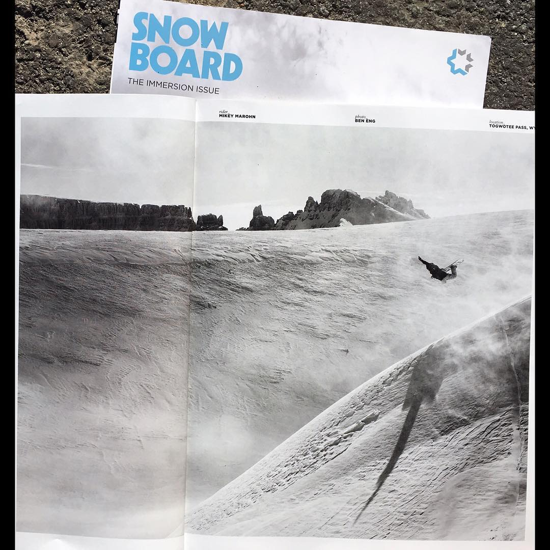 @_mikeymarohn  sending this backside air in the new @snowboardmag made my day.