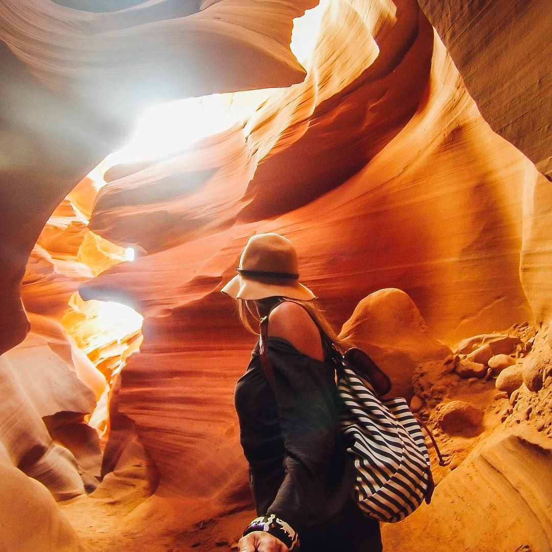 Back at #TravelTuesday with our #GoProGirl @mylifesatravelmovie and her recent excursion to #lowerantelopecanyon in Arizona! The wonders of natural space never cease to amaze, be sure to share your favorites with us by following the link in our...
