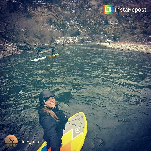No such thing as a bad day on the water, even with snow starting to fly!  Thanks for the tag. #vixen #colorado #sup