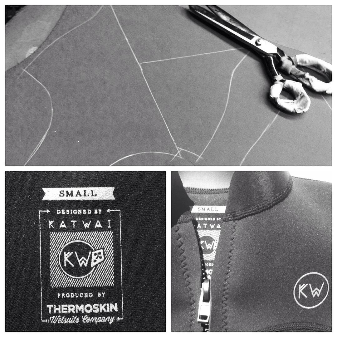 Working on details! ✂️✂️✂️Katwai Summer Wetsuit #katwai #surfsuit #wetsuit #neoprene
