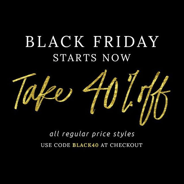 We are starting Black Friday early!! Take 40% off regular priced items, using code BLACK40 at checkout. Happy shopping! #blackfriday #shopping #sales #fashion #T4T #Livesustainably