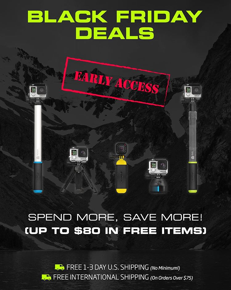 GoPole early access Black Friday deals start now! Spend more, save more! Shop Now by clicking the link in our bio. #gopro #gopole #blackfridaysale #blackfriday