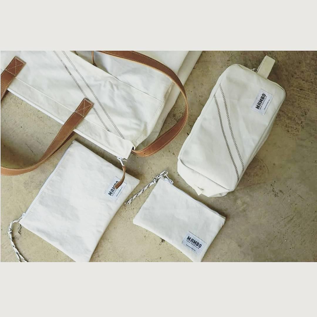 Serie Dacron • hecho con velas de barco reutilizadas / bolso, neceser, sobre y cartuchera •