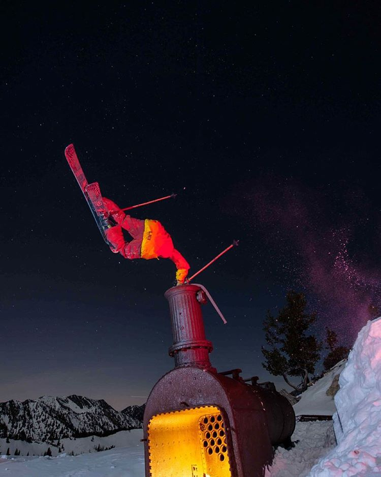 "It was 3 years ago yesterday that TanSnowMan dislocated his shoulder on this relic of a steam winch at the top of the Wasatch. Although the Panda Chief ""limped"" away from this ruthless beast of a feature, he and photographer Brent Benson managed to get..."