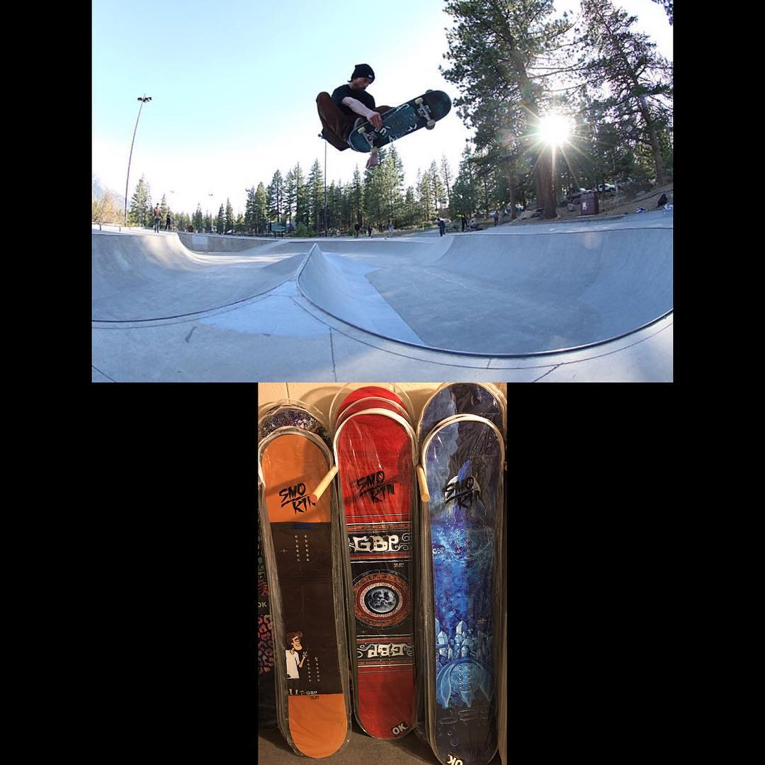 @ryangbp cross training the the future #rockermemorialskatepark , we manufacture,distribute and have a few @gbpgremlinz left, hit up www.smokinsnowboards.com